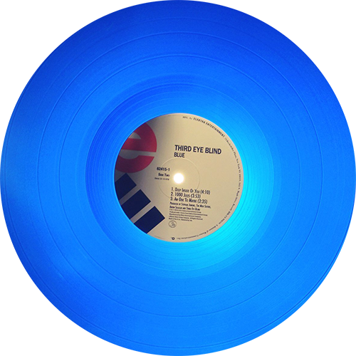 Blue vinyl record png. Third eye blind colored