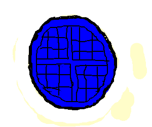Blue waffle png. Drawception