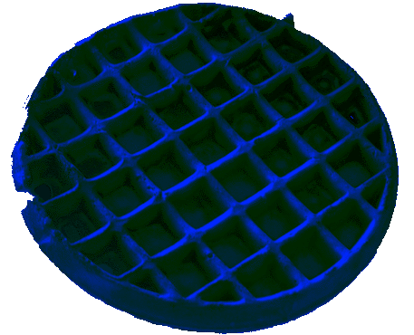 blue waffle png