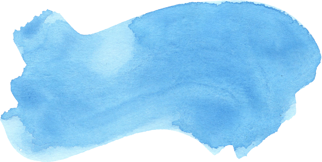 Blue water color png. Watercolor brush stroke