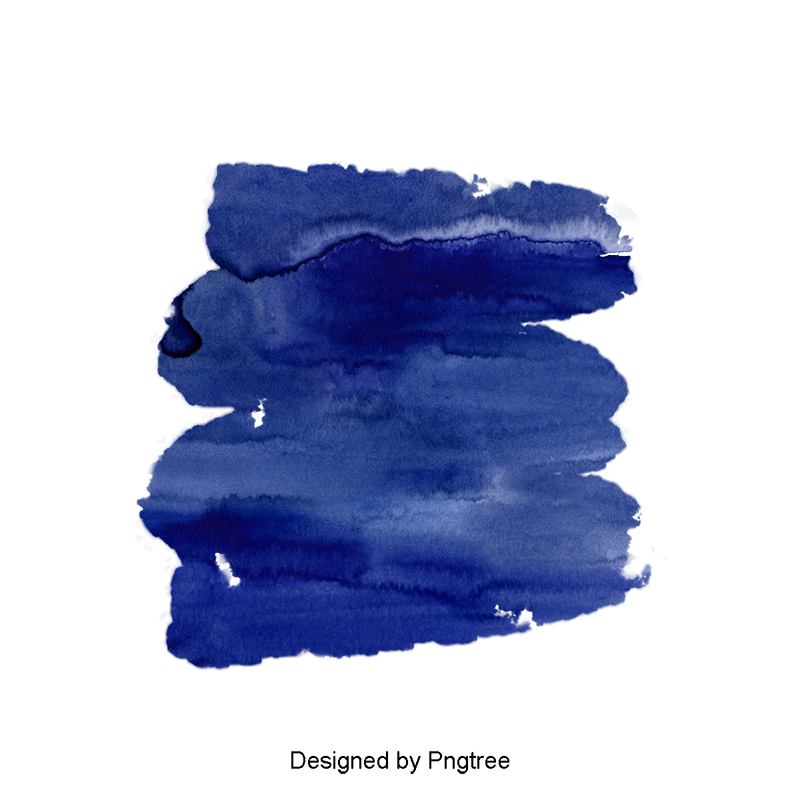 Blue watercolor png. Dark effect clipart color