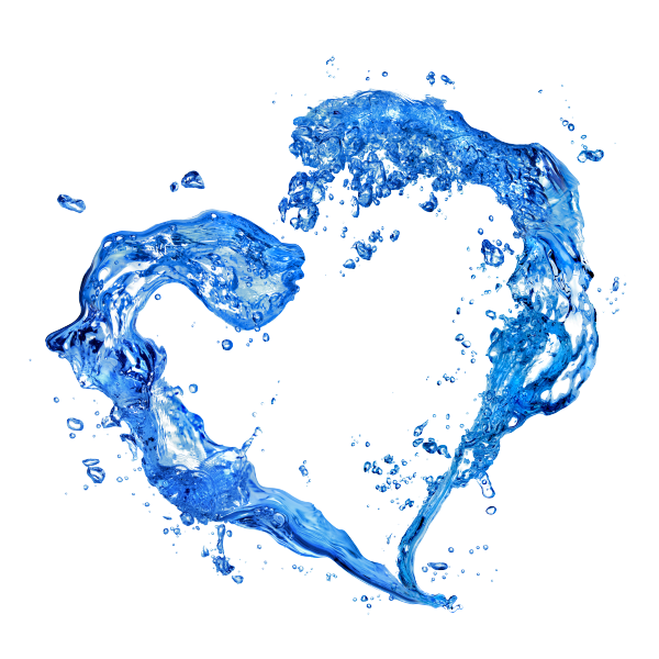 Blue water png. Hearts free icons and