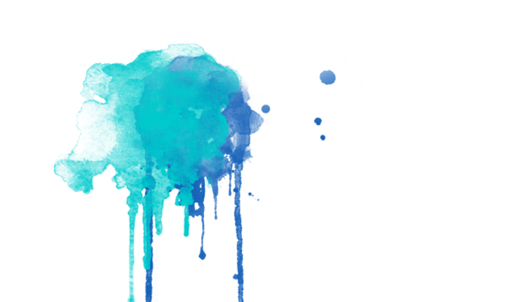 Blue watercolor drip png. Painting drawing art transprent