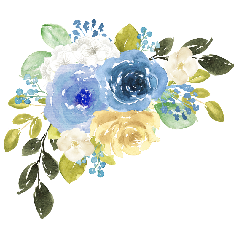 Flowers wajiflower co hand. Blue watercolor flower png clip royalty free library
