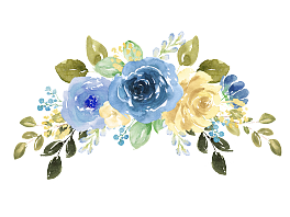 Blue watercolor flower png. Free no vector background