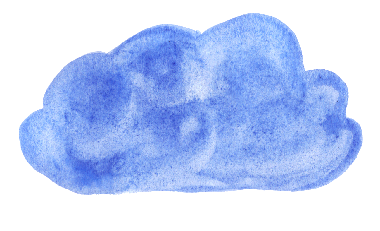 Blue watercolor png. Clouds transparent onlygfx