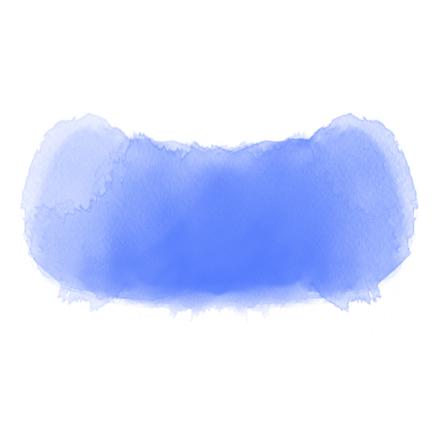 Blue watercolor png. Background hand drawn and