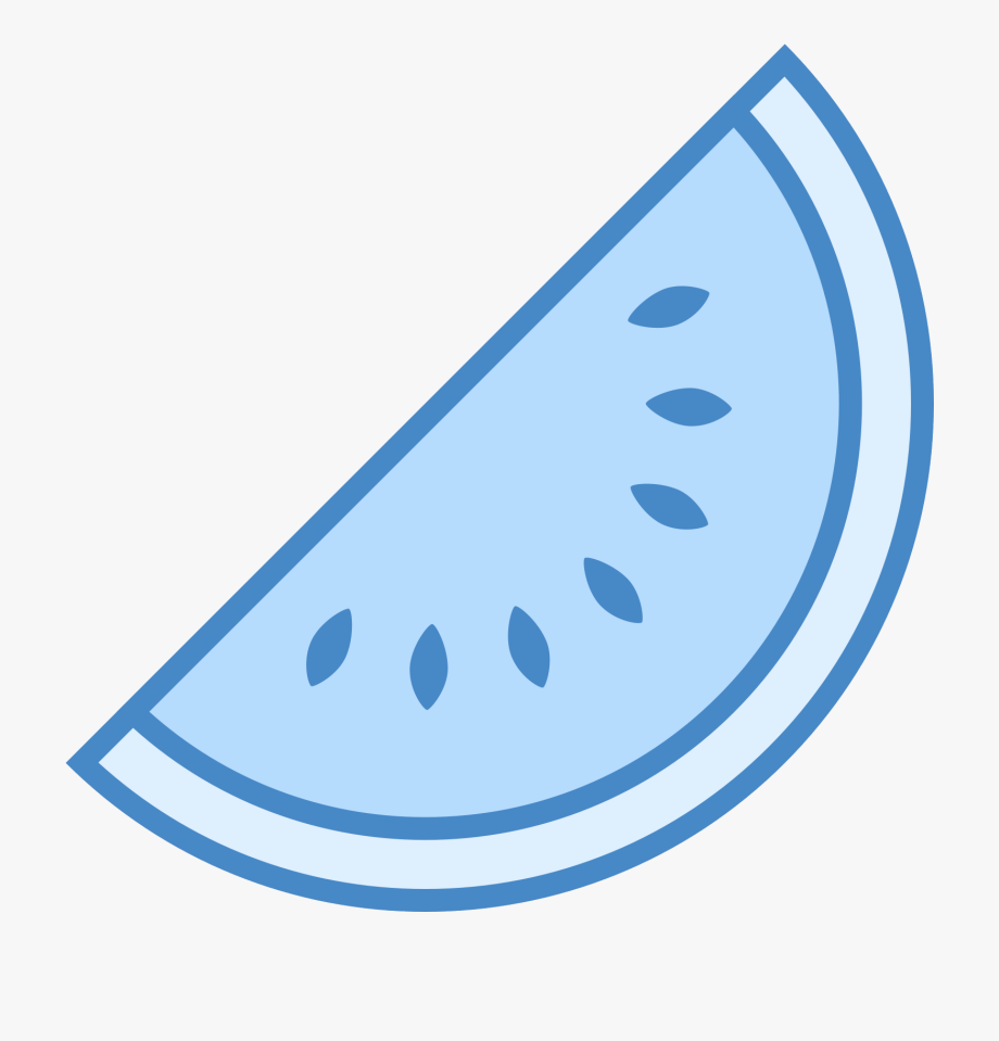 Blue watermelon. There is half a