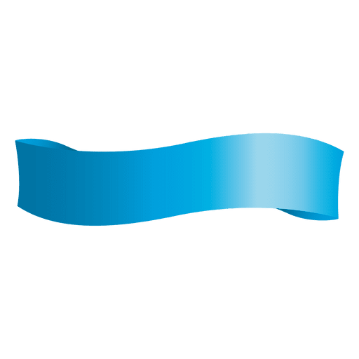 Wave clip ribbon. Blue transparent png svg