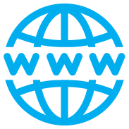 Blue website icon png. Free web download and