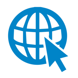 Blue website icon png. Free web download globe