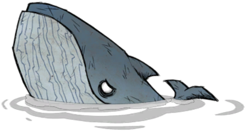 Blue whale png. Image don t starve