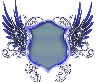 Shield with wings png. Blue mart