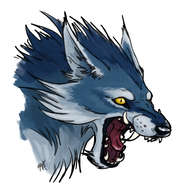 Blue wolf png. By roccenere on deviantart