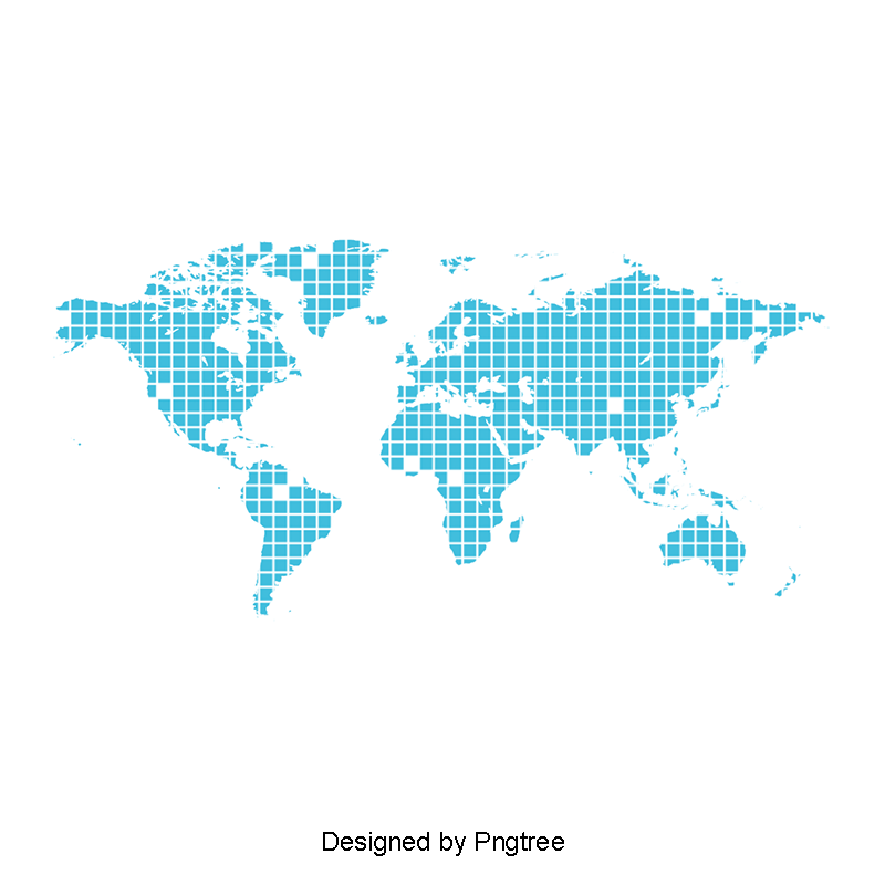 Mundo vector. Dotted world map blue