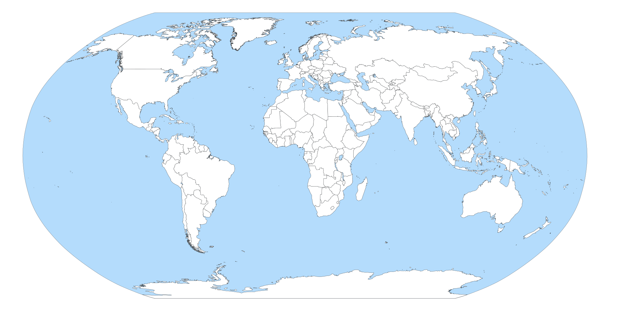 Blue world map png. File blank with sea