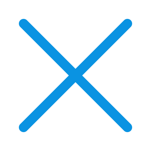 Blue x png. Icons for free faq
