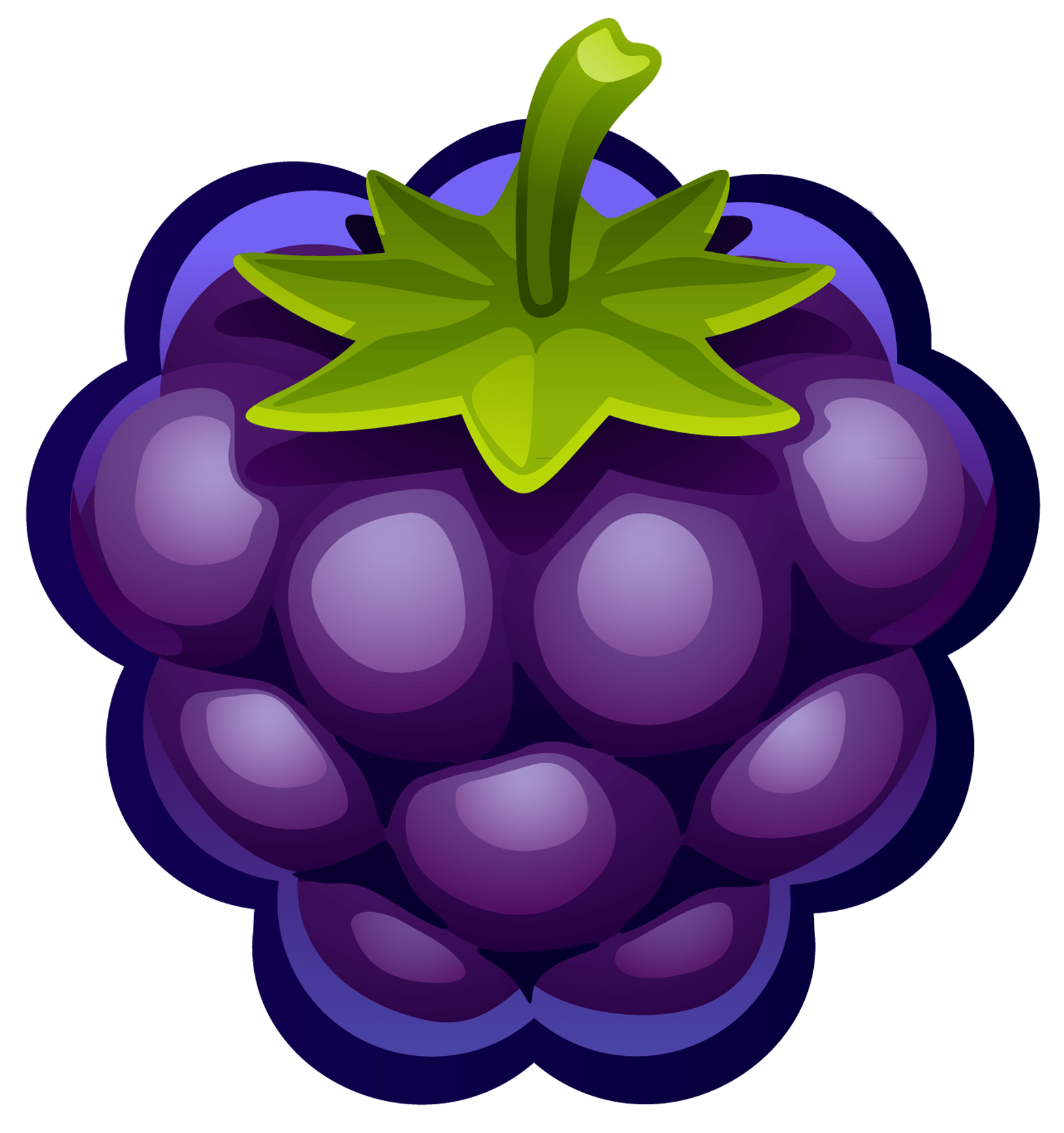 blueberry clipart purple berry