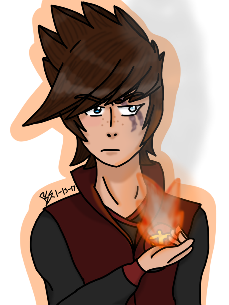 Bluejay drawing anime. Fire bender by electric