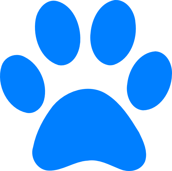 Blues clip svg. Clues paw art at