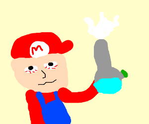Blunt clipart lit. Mario hitting a like