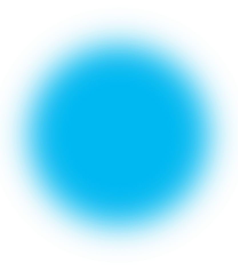 Transparent orb blur circle. Oddsquad blue