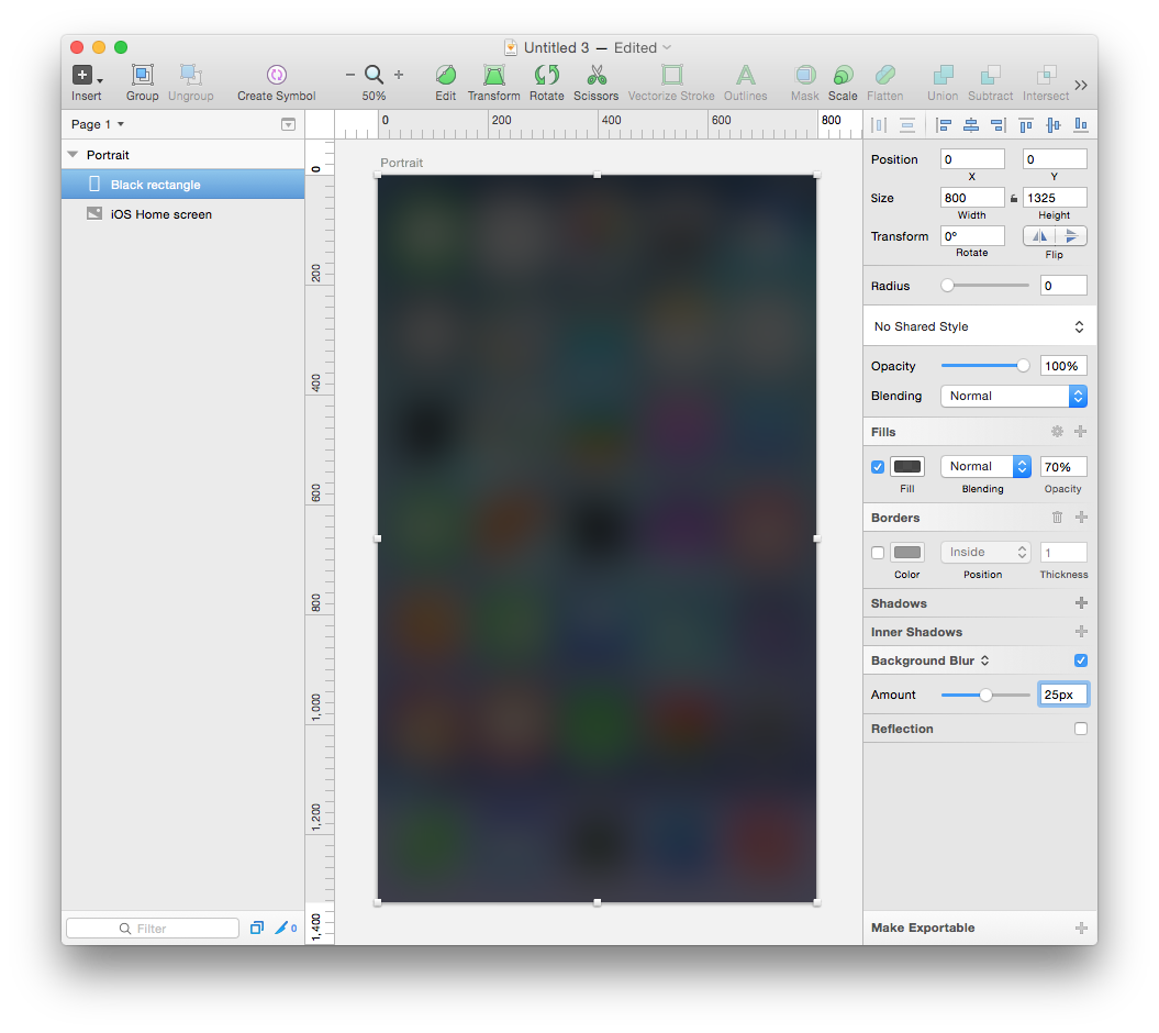 Blur png overlay. Creating a blurred ios