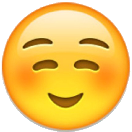 Emoji clipart happy face. Blushing png images transparent