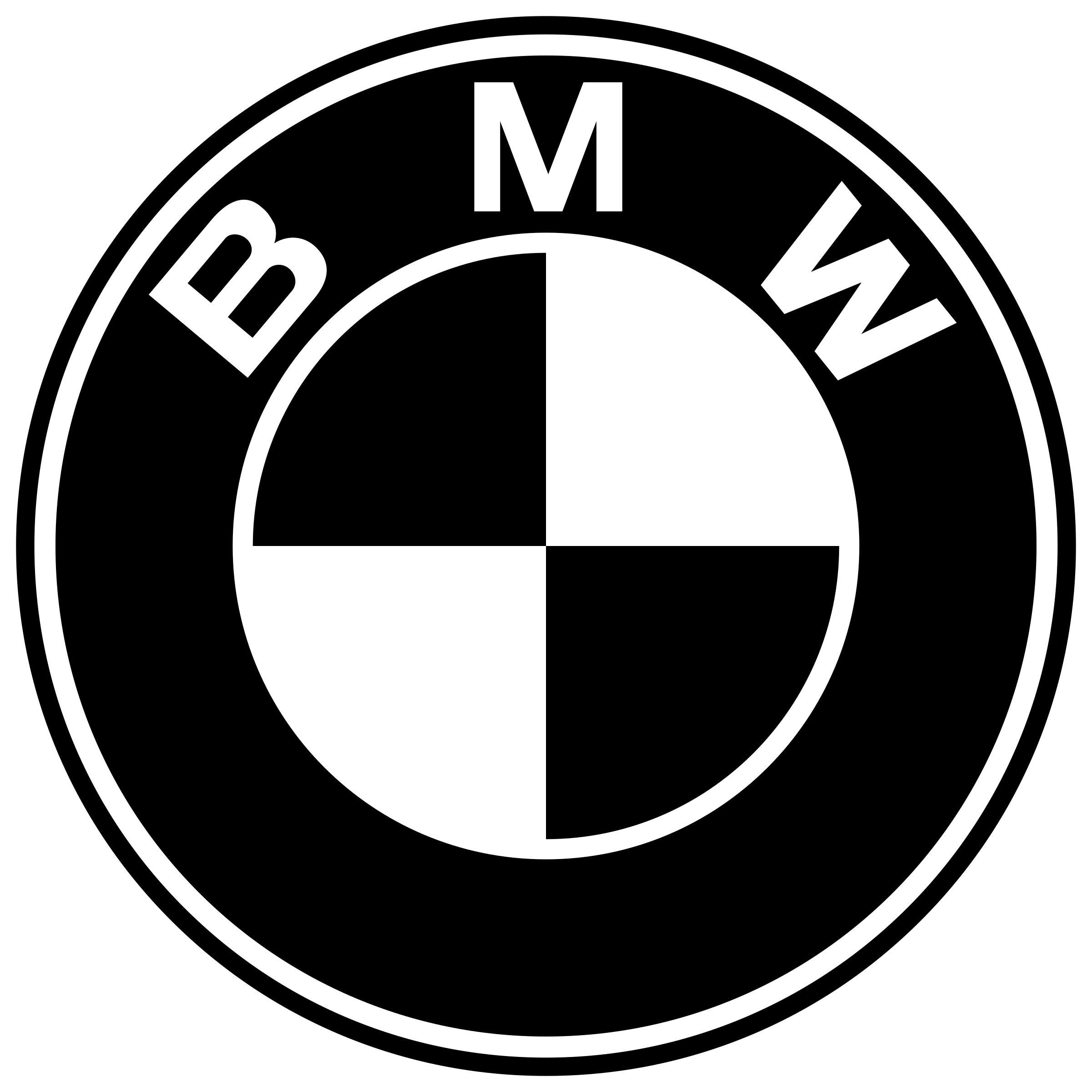 Bmw logo png white. Transparent svg vector freebie