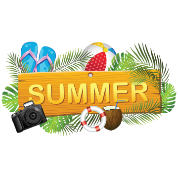 Hot vector file. Summer board collection leaves