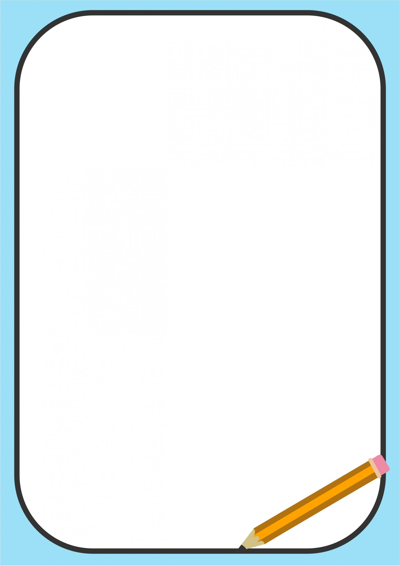 Pencil free stock photo. Border clipart picture library library