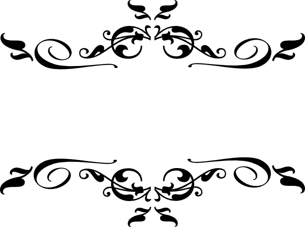 Filigree clipart royal filigree. Border