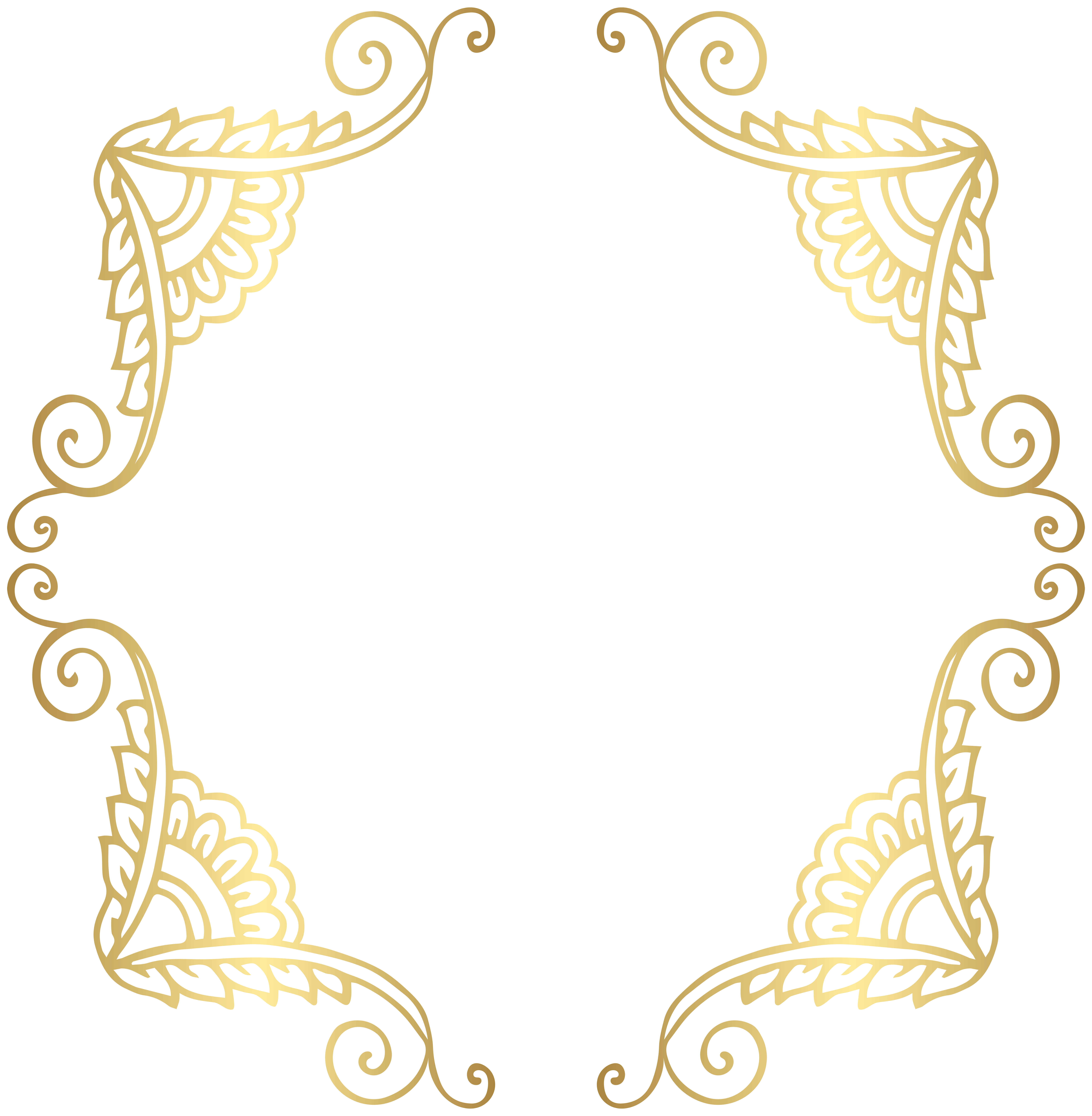 Clipart frame png. Free golden border cliparts