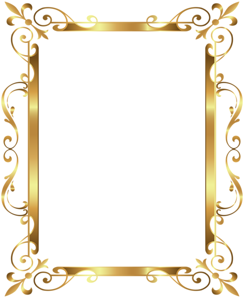 Luxury vector vintage gold frame. Border deco transparent clip