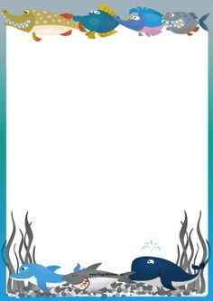 Ocean themed a page. Boarder clipart sea freeuse library