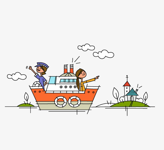 Boat clipart boat trip. Tour tourism seaside cartoon