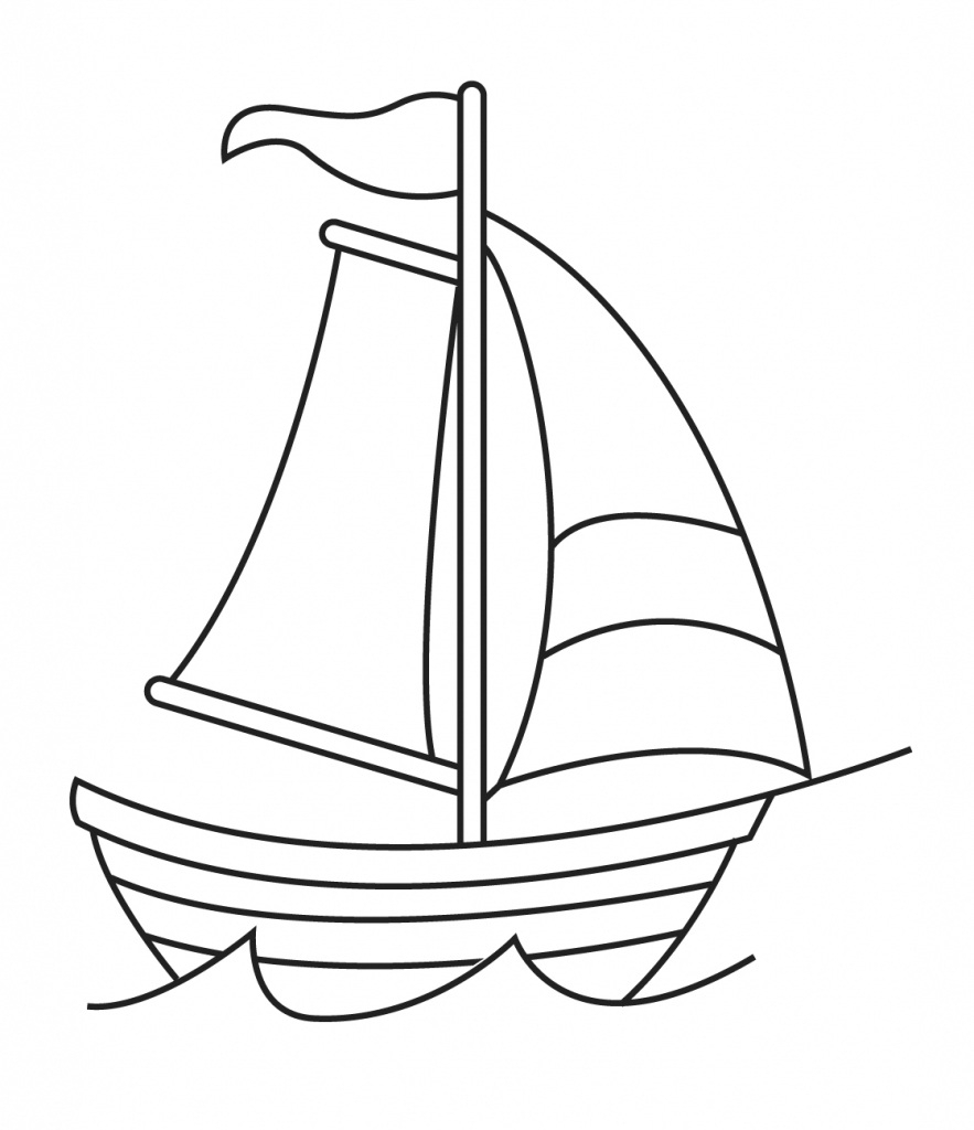 Boat clipart easy. Simple sailboat sketch weird