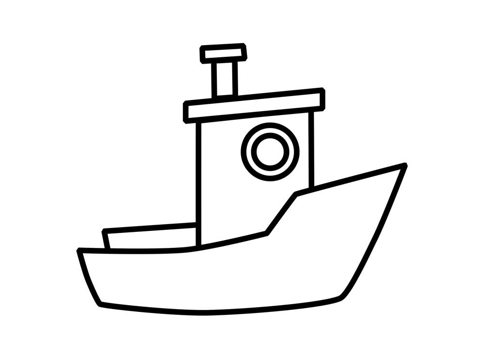 Boat clipart easy. Template pencil and in