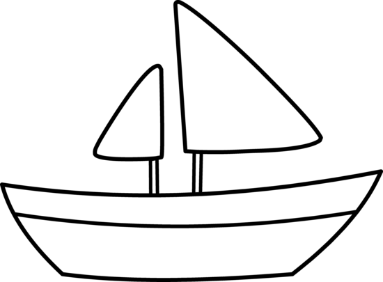Boat clipart easy. Outline