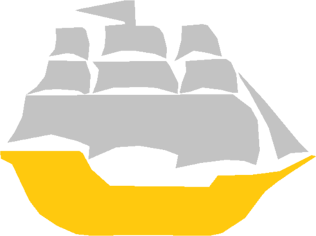 Raft drawing stick. Pirate ship computer icons