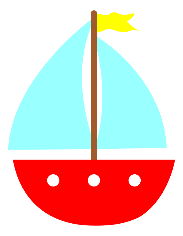 Cartoon sailboat png. Cute anchor clip art