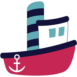 Boat clipart tugboat. Tug silhouette at getdrawings