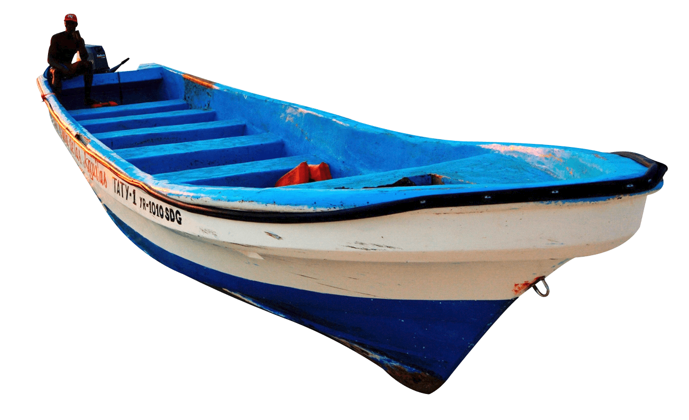 Boat png. White blue wooden transparent