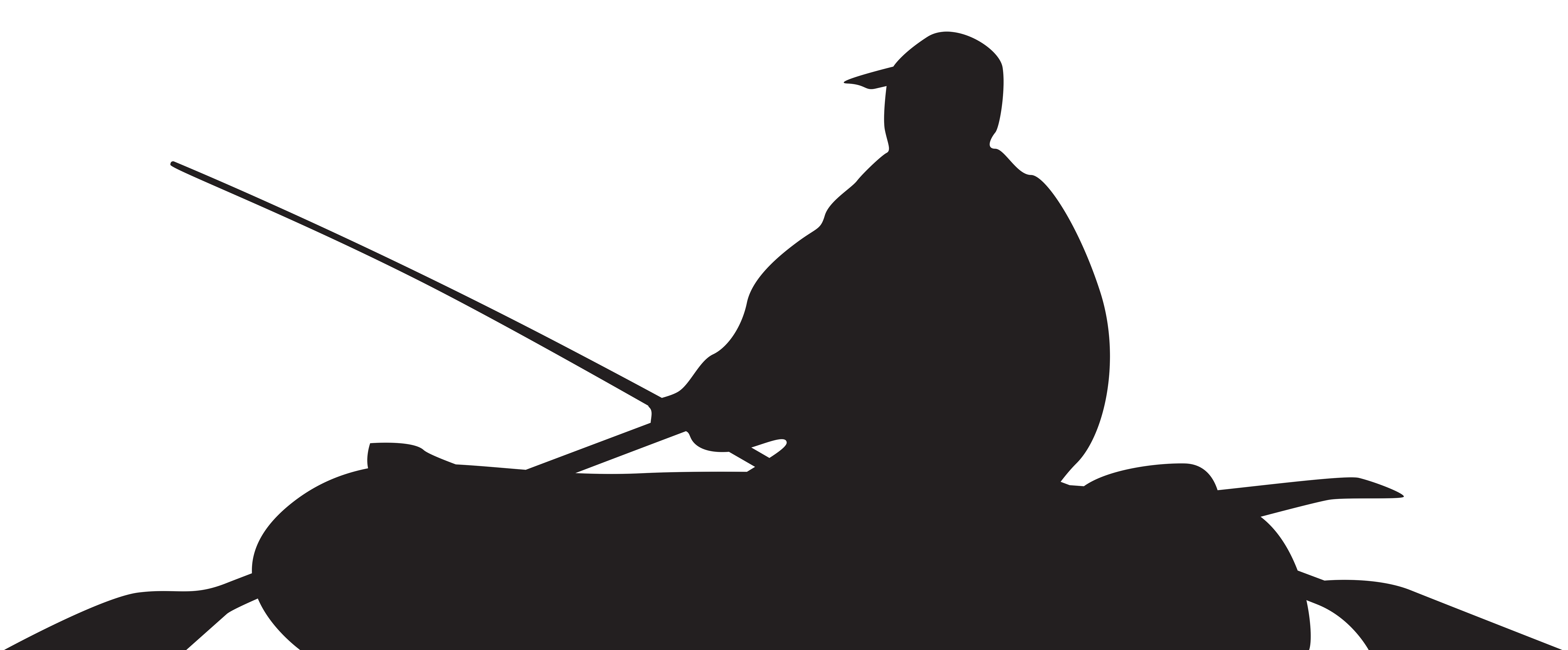 Boat silhouette png. Fisherman and clip art