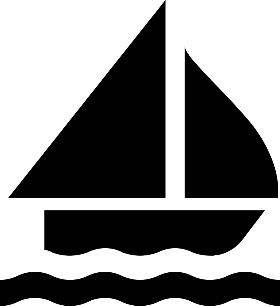 Sailing vector silhouette. Boat svg png icon