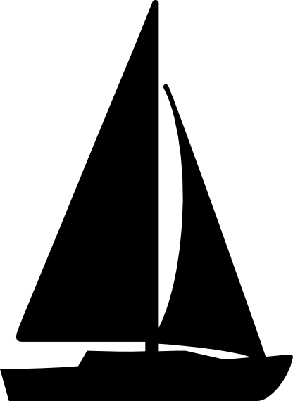 sailing vector racing sailboat