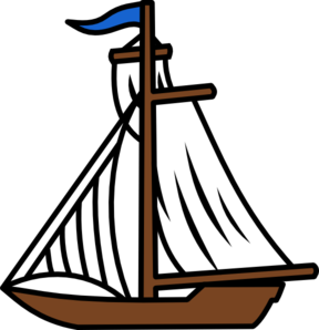 Boat clip art at. Sail clipart large ship picture black and white stock
