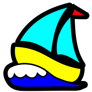 Yacht clipart colorful boat. Pin by barbara frank