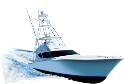 Yacht clipart charter boat. Hatteras ft yachtspirit graphix