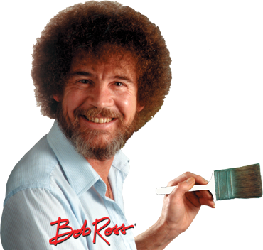 Bob ross afro png. Mystic mountain brush pack